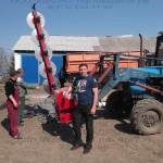Пильный модуль обрезчика деревьев на тракторе